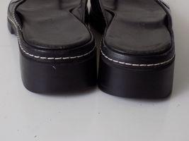7 SANDALS CLARKS LEATHER FLIP 5 WOMENS SIZE FLOPS M BLACK HHgxw70