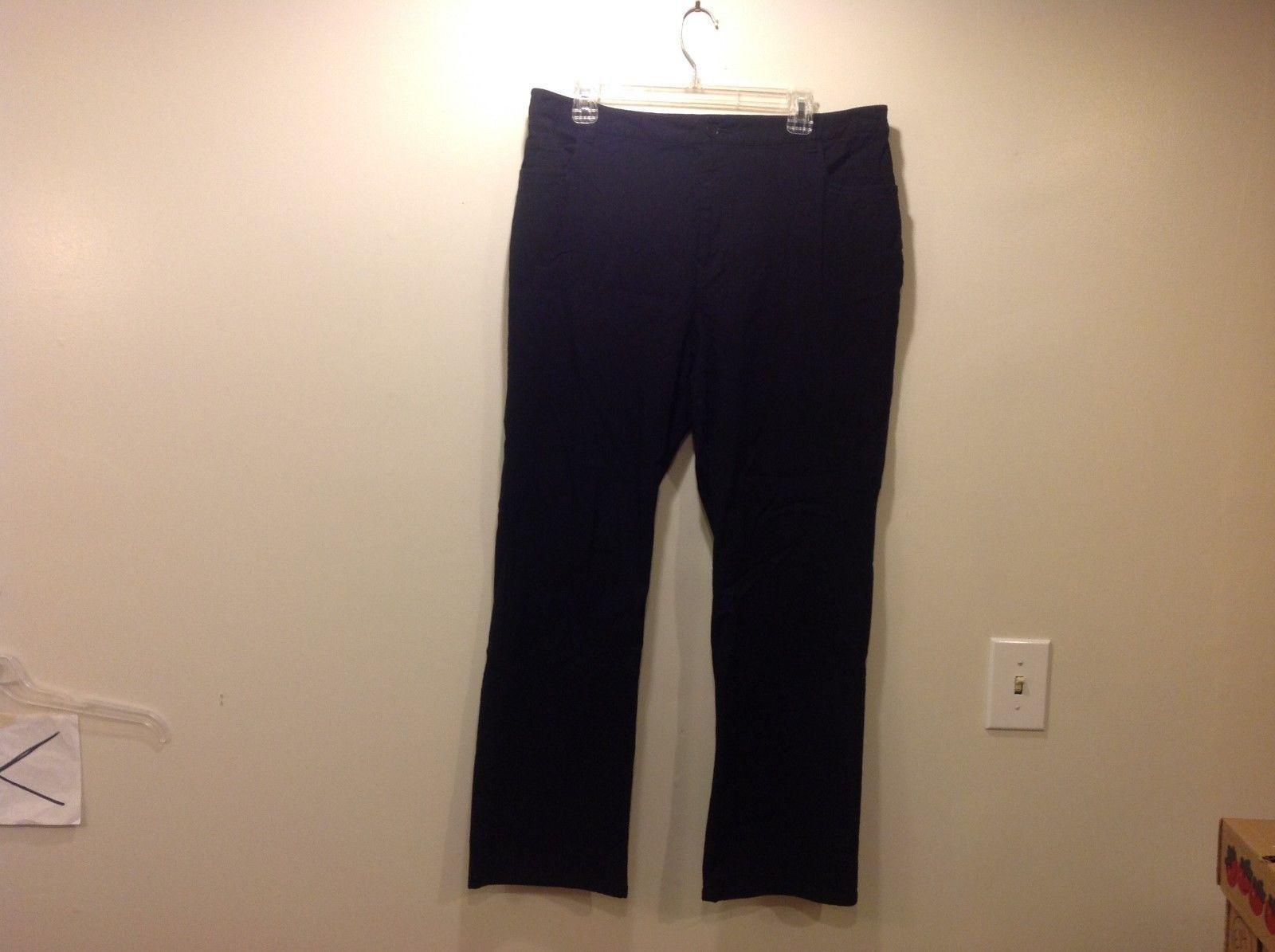 Style & Co Ladies Sleek Black Pants Sz 16W