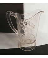 Dalzell Gilmore Leig Glass Water Pitcher Cornucopia Pattern Fruit 42-oz ... - $24.70
