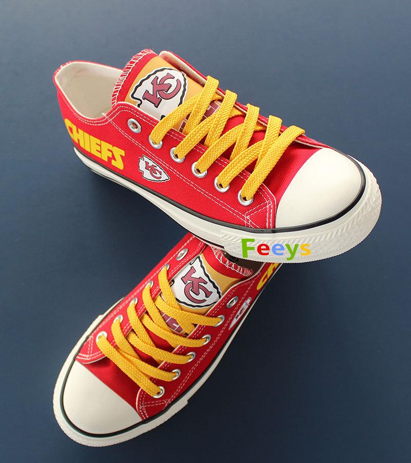 kc chiefs shoe women converse style chiefs sneakers Kansas city fans gift red