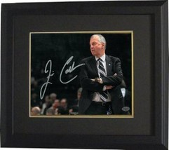 Jim Calhoun signed Connecticut Huskies 8x10 Photo Custom Framed (arms cr... - $85.00