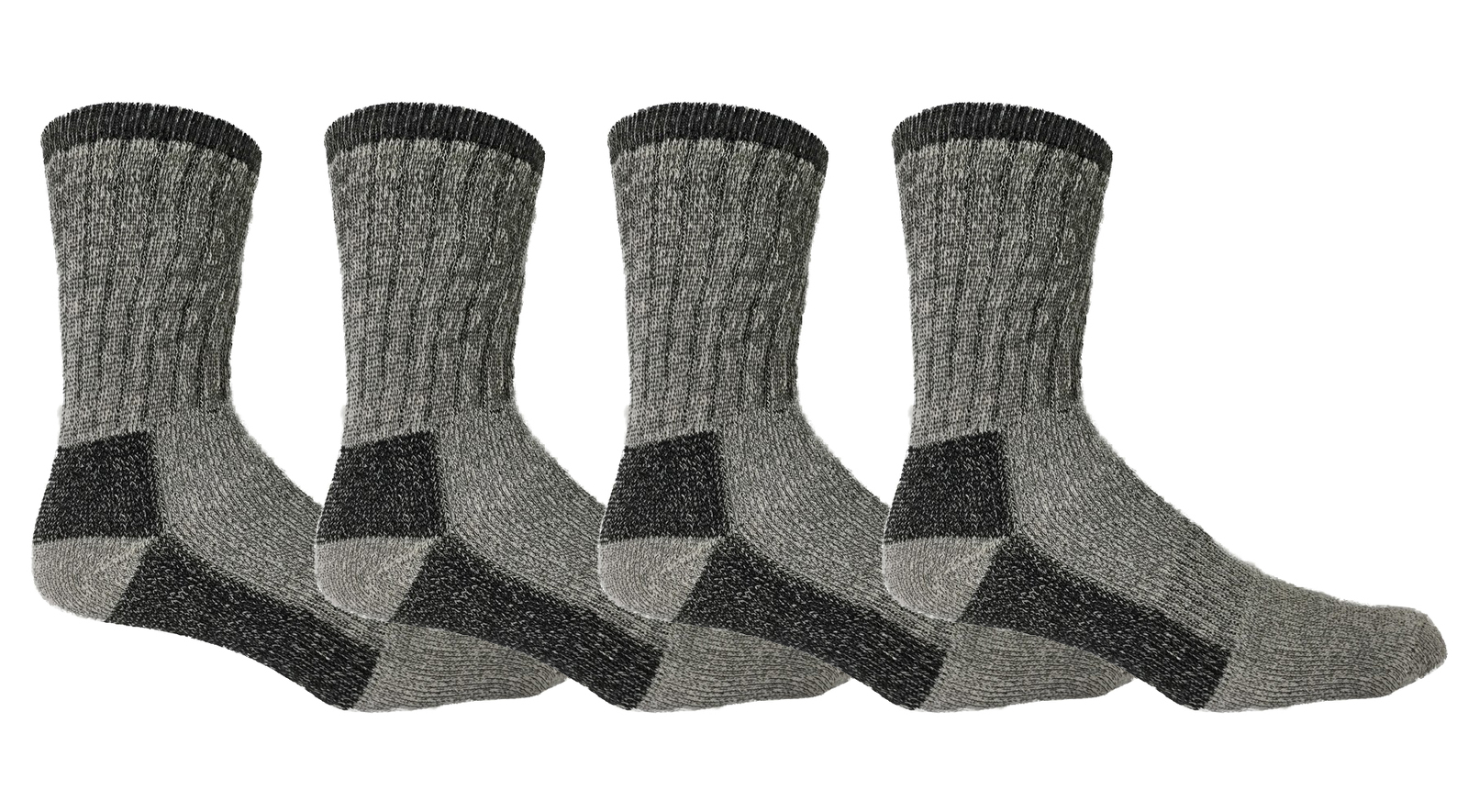 4 Pairs of Womens Merino Wool Socks 68%, Trail Hiking Camping Warm Thick Thermal