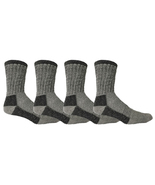 4 Pairs of Womens Merino Wool Socks 68%, Trail Hiking Camping Warm Thick... - ₨1,489.63 INR