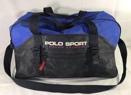 VTG Polo Sport Ralph Lauren Gym Bag Spellout Duffle 90's RLX Bear - $99.99