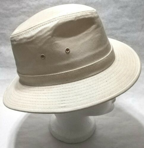 Dorfman Pacific Co. Men's Garment Washed Twill Safari Hat Beige Small, used image 4