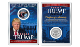 DONALD J. TRUMP & MELANIA INAUGURATION JFK Half Dollar US Coin in PREMIU... - $10.35