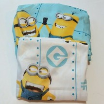 Despicable Me Full Size Sheet Set Minions Fitted and Flat Testing 123 Mu... - $21.78