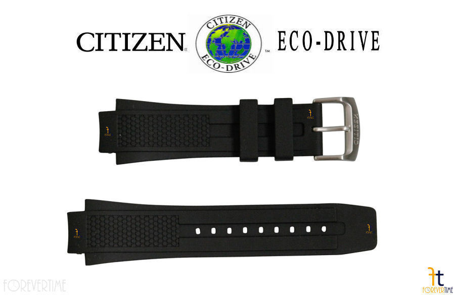 Citizen 59-S52077 22mm Original Black Rubber Watch Band S067642 S067367 - $79.95