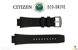 Citizen 59-S52077 22mm Original Black Rubber Watch Band S067642 S067367 - $79.95