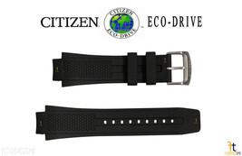 Citizen 59-S52077 22mm Original Black Rubber Watch Band S067642 S067367 - $105.64 CAD