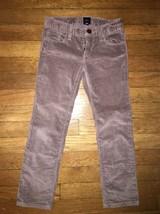 ! gap kids brown velour soft straight leg pants sz 6 girl - $12.05