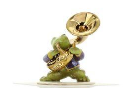 Hagen Renaker Miniature Frog Toadally Brass Band Tuba Ceramic Figurine image 3