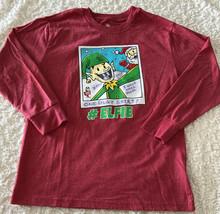 Target Boys Red Green #Elfie Santa One Ugly Shirt Polaroid Long Sleeve S... - $9.28