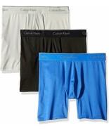 Calvin Klein Microfiber Stretch Boxer Brief - Black/Blue/Grey, Size XL P... - $44.99