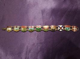 Vintage Canada Canadian Provinces Coat of Arms Enamel Charm Bracelet - $44.55