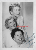 The Andrew Sisters Vocalists from the 40's 50's Autographed photograph ~... - $45.00