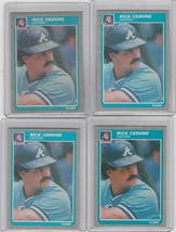 1985 Fleer Update #U-24 Rick Cerone Braves Lot of 4 - $2.30