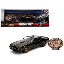 1977 Pontiac Firebird Trans Am Black with Replica Buckle Smokey and the ... - $41.87