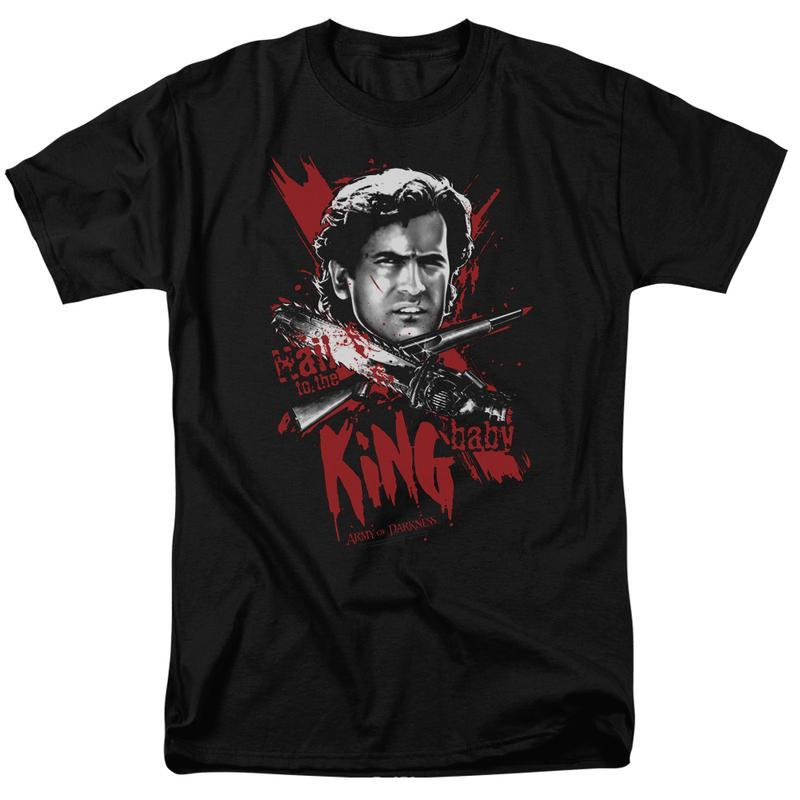 vs evil dead ash williams retro horror movie graphic tee for sales online tshirt mgm125 at 800x