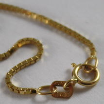 18K YELLOW GOLD CHAIN 1 MM VENETIAN SQUARE LINK 17.71 INCHES, MADE IN ITALY image 3