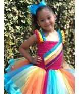 Jojo Tutu, Jojo Siwa Tutu Dress, Jojo Siwa Costume, Ribbon Trim Tutu Dress - $65.00+