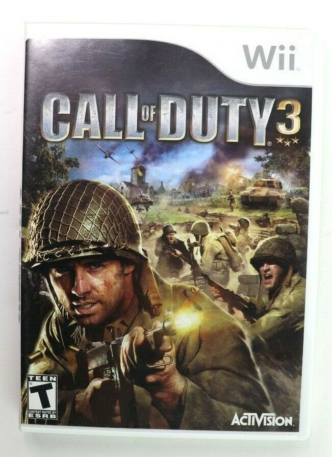 Call of Duty 3 (Nintendo Wii, 2006) CoD Complete EUC Tested
