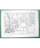 ARCHITECTURE PRINT : Vaulted Ceilings Regensburg Radcliffe & Bristol - $14.85
