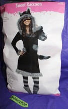 Fun World Sweet Raccoon Halloween Costume Outfit Cosplay Juniors Size 0-9 - $29.69