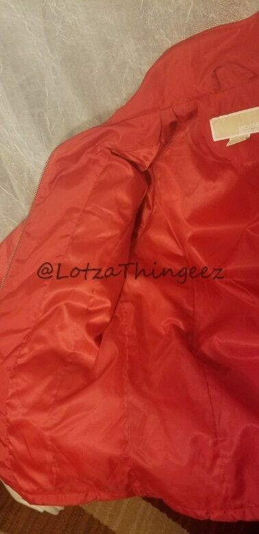 Michael Kors S/P RED Quilted Lightweight Jacket