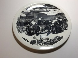Wedgwood New England Industries Tobacco Growing Plate by Clare Leighton - $79.18