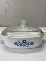 Vintage Corning Ware Blue Cornflower Casserole Dish & Lid Pyroceram  B-22 - $13.98