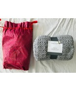 Threshold Grey Knit Throw Soft Standard 100 Oeko-Tex New w/ Tags in Bag ... - $38.69