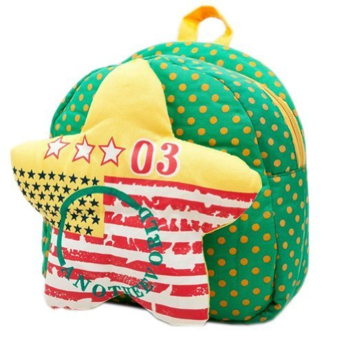 GREEN Star Infant Lovely Knapsack Cute Baby Bag Toddler Backpack 1-4Y