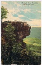 Tennessee Postcard Chattanooga Sunset Rock Lookout Mountain 1913 - $2.84