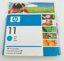 HP 11 Cyan Ink Cartridge C4836A Geniune Factory Sealed New  - $11.64