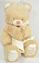 Kids Preferred BROWN MY FIRST TEDDY BEAR Hugging YELLOW LOVEY Plush BABY... - $19.79