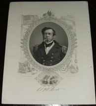 Original 1866 Engraved Protrait of Admiral Andrew Hull Foote From a Brad... - $12.00