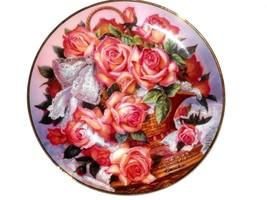 Princess Grace Princesse de Monaco Rose Plate by FRANKLIN MINT - $12.61
