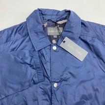 New Slate & Stone Windbreaker Jacket Men's Size L Blue Lined Button Up P... - $24.95