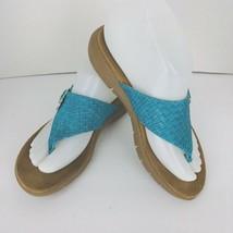 A2 by Aerosoles Wipline Flip Flop Sandals Teal Blue Turquoise Slip On Si... - $34.64