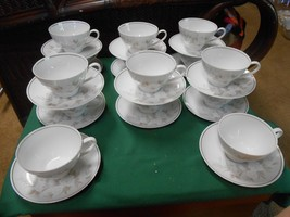 "Beautiful Noritake ""Belda"" Dinnerware Set Of 14 Cups & Saucers - $55.15"