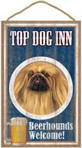 """Top Dog Inn Beerhounds Pekingese Bar Sign Plaque dog 10"""" x 16"""" Beer - $21.95"""