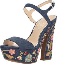 Jessica Simpson Womens DIVELLA2 Wedge Sandal Dark Denim - $34.27