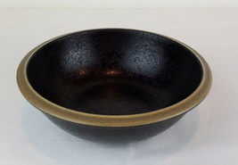 "Dansk Santiago Black Cereal Salad Bowl 6.75"" Stoneware China Tan Rim EUC - $5.98"