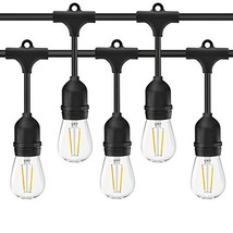 Banord 48 Foot LED Outdoor String Lights,S14 2W x 18 Vintage Bulbs (.) - $60.76
