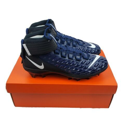 Nike Men Force Savage Pro 2 Mid Navy Black Football Cleats AH4000-403 Size 11 1A - $62.95