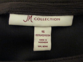 Women's brown full length skirt Size 16 by JM Collection  MKS056 - $12.63