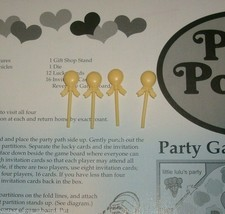 4 YELLOW BALLOON REPLACEMENT EXTRA FOR POLLY POCKET 1994 PARTY GAME PART... - $1.42