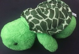 Goffa Bright Green Turtle Plush Stuffed Animal Spotted Shell Toy - $19.79