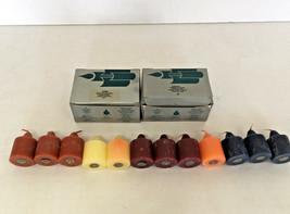 vintage mix fragrances partylite votive 12 candle lot raspberry short w... - $15.84